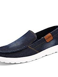 preiswerte -Herrn Schuhe Denim Jeans Frühling Herbst Komfort Loafers & Slip-Ons für Normal Büro & Karriere Draussen Schwarz Dunkelblau Grau