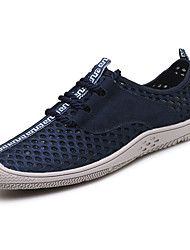 cheap -Men's Shoes Tulle Summer Comfort Light Soles Sneakers Water Shoes Buckle Lace-up For Casual Gray Brown Blue