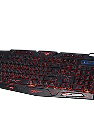 cheap -A878E Wired Multicolor Backlit 114 Gaming Keyboard Portable Backlit