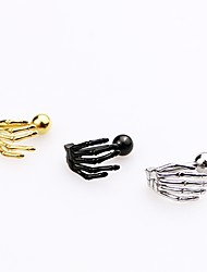 Men's Women's Stud Earrings Punk Personalized Rock Hypoallergenic Simple Style Costume Jewelry Stainless Steel Hamsa Hand Jewelry For