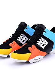 Для мужчин Спортивная обувь Оригинальная обувь Дерматин Ткань Весна Лето Осень Зима Атлетический Повседневные Беговая обувьКомбинация