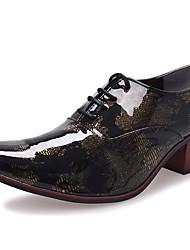 Homme Chaussures Cuir Verni Automne Hiver Chaussures formelles Oxfords Pour Décontracté Soirée & Evénement Or Gris Bleu