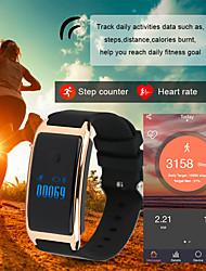 baratos -Homens / Mulheres Relógio Esportivo / Relógio de Moda / Relógio Elegante Chinês Monitor de Batimento Cardíaco / Calendário / Régua Deslizante PU Banda Amuleto / Luxo / Rígida Cores Múltiplas
