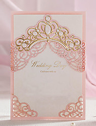 cheap -Wrap & Pocket Wedding Invitations 20 - Invitation Cards Classic Style Embossed Paper