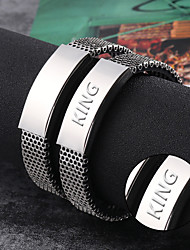 Europe and the United States customized silicone bracelet fashion bracelet bracelet titanium mesh belt does not fade