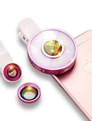 Lentes de la cámara del smartphone del escase 0.45x granangular 12x macro para el iphone de iPod huawei xiaomi samsung