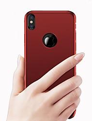Назначение iPhone X iPhone 8 iPhone 8 Plus Чехлы панели Матовое Задняя крышка Кейс для Сплошной цвет Твердый PC для Apple iPhone X iPhone
