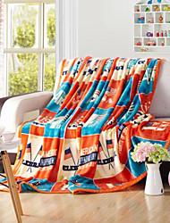 Недорогие -Супер мягкий Флаги Полиэфир одеяла