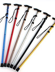 Four Telescopic Folding Aluminum Alloy Climbing Sticks Slippery Cane Old Man Helping Adjustable Crutches