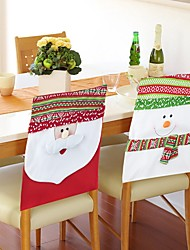 2PC Merry Christmas Snowman Couple Chair Covers Christmas Decorations Ornament Navidad Dinner Decor Chair Sets Gift Supplies