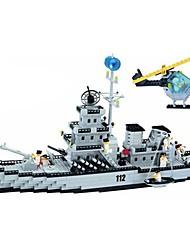 Blocos de Construir Brinquedos Barco de Guerra Peças Unisexo Dom