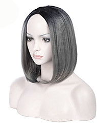 cheap -Most Popular Ombre Dark Grey Color BOBO Straight Hair European Synthetic Wigs For Black Women Wig