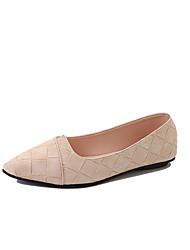 Women's Loafers & Slip-Ons Comfort Spring Summer PU Casual Dress Flat Heel Black Beige Gray Army Green Under 1in