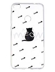 Caso per huawei nova 2 nova 2 più trasparente modello posteriore copertina gatto animale gatto morbido tpu p10 più p10 lite p10 p8 lite