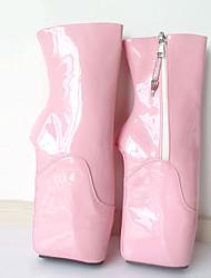 Femme Bottes Nouveauté Bottes à la Mode Automne Hiver Polyuréthane Soirée & Evénement Plateforme Rose 12 cm & plus