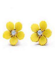 Women's Drop Earrings Topaz Basic Cute Style Fashion Bohemian Alloy Daisy Jewelry For Gift Daily Holiday Date Going out