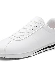 baratos -Homens sapatos Couro Ecológico Primavera / Outono Conforto Tênis Caminhada Vermelho / Branco / Preto / Vermelho / Branco