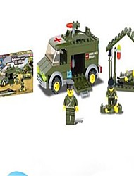 cheap -Building Blocks Toy Cars Ambulance Vehicle Toys Chariot Military Engineering Plastics Cast Iron Children's Kids Pieces