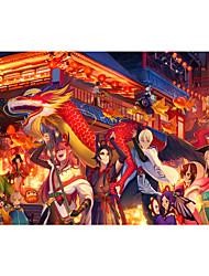 baratos -Quebra-Cabeça Construções Famosas Arquitetura Chinesa Arquitetura Anime Desenho Unisexo Dom