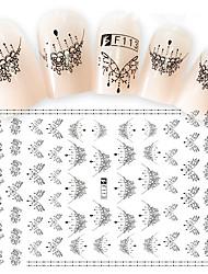 Недорогие -2 С рисунком 3D-стикеры для ногтей Компоненты для самостоятельного изготовления 3-D Мода Повседневные Высокое качество
