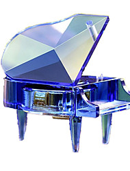 Music Box Toys Piano Toughened Glass Crystal Wedding Birthday 1 Pieces Not Specified Couple's Birthday Gift
