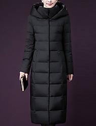 Extra lange donzen mantel