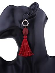 Women's Drop Earrings Hoop Earrings Tassels Fashion Bohemian Personalized Handmade Alloy Jewelry For Gift Casual Stage Date Street Club