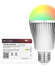 cheap -9W E27 LED Smart Bulbs A60(A19) 18 leds SMD 5730 Infrared Sensor Light Control Dimmable Remote-Controlled WIFI APP Control RGB+Warm 900lm