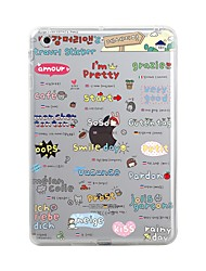 abordables -Coque Pour Apple iPad Mini 4 Mini iPad 3/2/1 iPad 4/3/2 iPad Air 2 iPad Air Transparente Motif Coque Carreau vernisé Mot / Phrase Bande