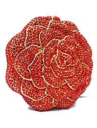 baratos -Mulheres Bolsas Metal Bolsa de Festa Cristais para Casamento Festa/Eventos Primavera Verão Vermelho Azul
