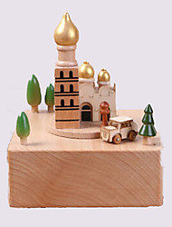 cheap -Music Box Wood Horse Church Carousel Unisex Gift