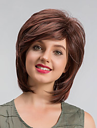 cheap -Synthetic Wig Straight Brown Capless Natural Wigs Short Synthetic Hair