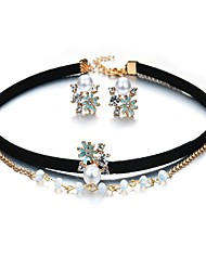 May Polly  Popular edition of zircon necklace earrings jewelry set