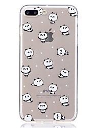 economico -Caso per Apple iphone 7 plus 7 modello trasparente copertina posteriore panda morbido tpu 6s più 6 più 6s 6 se 5s 5