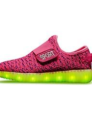 Da ragazza scarpe da ginnastica Comoda Scarpe luminose A rete Autunno Inverno Sportivo Casual Lacci Piatto Arancione Rosso Rosa Piatto