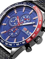 cheap -MINI FOCUS Men's Sport Fashion Watches Wristwatch Stopwatch Calendar Quartz Genuine Leather Band Chronography Clock Relogio Masculino Hombre