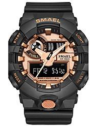 Недорогие -SMAEL Муж. Спортивные часы электронные часы Японский Кварцевый Цифровой 30 m Защита от влаги Секундомер Ударопрочный PU силиконовый Группа Аналого-цифровые На каждый день Мода Черный / Синий / Красный