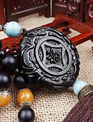 baratos -Diy auto pendentes ebony dispyyosspp decoração abençoar a boa sorte carro pingente&Ornamentos de madeira