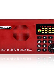 K1 Radio portatil Reproductor MP3 Linterna Tarjeta TFWorld ReceiverBlanco Rojo