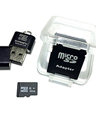 cheap -32GB MicroSDHC TF Memory Card with USB Card Reader and SDHC SD Adapter