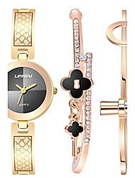 abordables -Mujer Reloj de Pulsera Reloj Pulsera Cuarzo Gran venta Acero Inoxidable Banda Creativo Elegant Dorado Oro Rosa