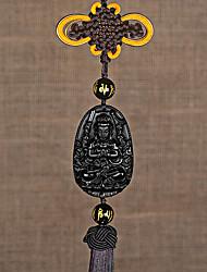 cheap -DIY Automotive Car Pendant Obsidian Jade Patron Saint Car Pendant & Ornaments Jade Crystal
