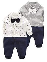 cheap -Baby Boys' Solid Colored Floral / Botanical Fashion One-Pieces