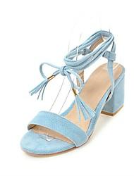 Women's Shoes Leatherette Summer Slingback Ankle Strap Sandals Open Toe Tassel For Wedding Casual Dress Black Red Blushing Pink Light Blue