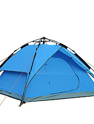 cheap -3-4 persons Tent Accessories Shelter & Tarp Double Camping Tent One Room Fold Tent Windproof Breathable Foldable Tent Outdoor Collapsible