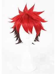 preiswerte -Synthetische Haare Perücken Gerade Faux Locs Perücke Kappenlos Cosplay Perücke Kurz Rot