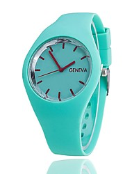 Homens Relógio de Moda Relógio de Pulso Único Criativo relógio Relógio Casual Chinês Quartzo Silicone Banda Casual Elegantes Preta Branco