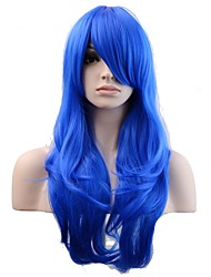 Women Synthetic Wig Capless Long Natural Wave Royal Blue Natural Wig Costume Wigs
