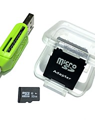 Недорогие -32gb microsdhc tf карта памяти с 2 в 1 usb otg card reader micro usb otg