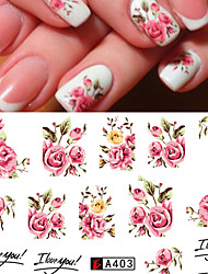 1Sheet Fashion Rose Flower Nail Art Water Transfer Stickers Decals Tip Decoration DIY for Nails Accessories